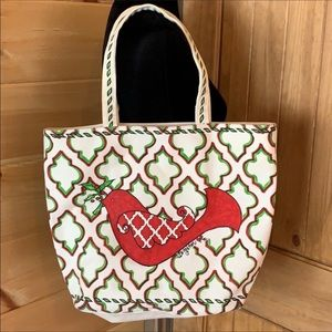 Brighton Christmas theme canvas tote bag